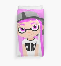 Splatoon - Inkling girl Pink HD (Actualized 08/13/2016) Duvet Cover