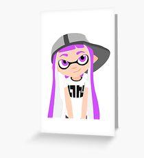 Splatoon - Inkling girl Purple HD (Actualized 08/13/2016) Greeting Card