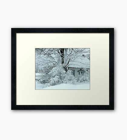 Twinkling Lights in the Storm Framed Print