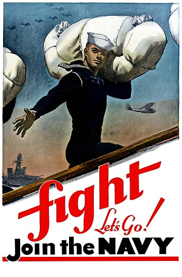 Fight - Let's Go Join The Navy by warishellstore
