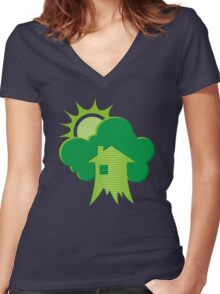 Greenhouse Women's Fitted V-Neck T-Shirt