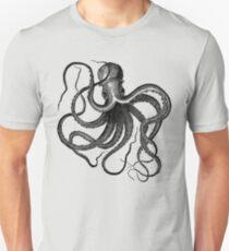 Vintage Octopus Illustration Unisex T-Shirt