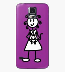 The girl with the curly hair - dark purple Case/Skin for Samsung Galaxy