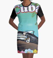 Cuba vintage style travel poster Graphic T-Shirt Dress