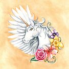 Floral Unicorn by LCWaterworth