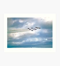 Emerging From The Smoke Trail Art Print