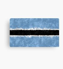 Botswana Flag Grunge Canvas Print
