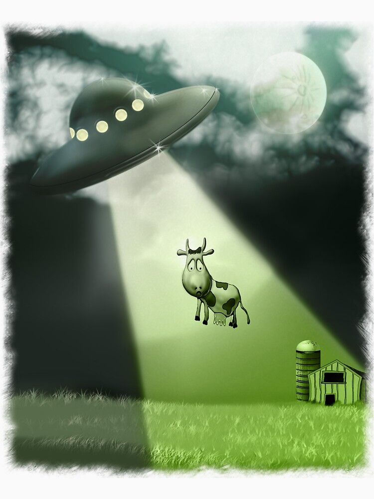 Comical UFO Cow Abduction von mdkgraphics