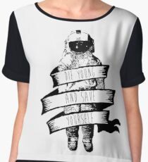 ribbon wrapped astronaut quote Chiffon Top