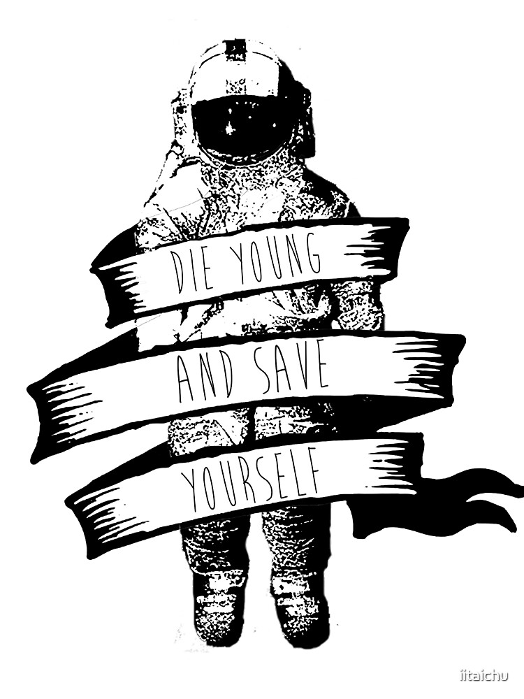 ribbon wrapped astronaut quote by Etai Ovadia