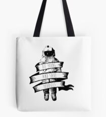 ribbon wrapped astronaut quote Tote Bag