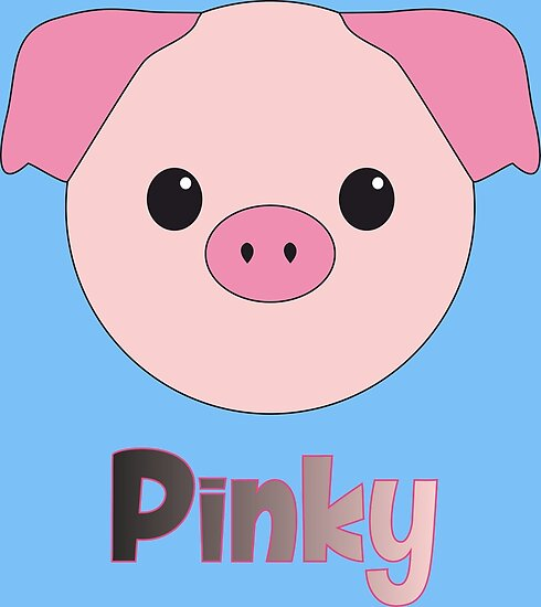 Cute Pinky The Cute Little Pig From Kawaii Animals By Xaverrevax Redbubble Pinky The Cute Little Pig From Kawaii Animals