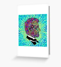 Psychedelic LSD Trip Abraham Lincoln Greeting Card