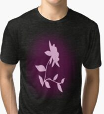 Flower silhouette in pink Tri-blend T-Shirt
