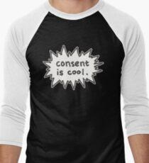 Consent is Cool Comic Flash Men's Baseball ¾ T-Shirt