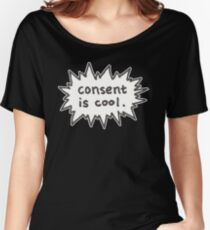 Consent is Cool Comic Flash Women's Relaxed Fit T-Shirt