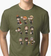 Haikyuu!! / Karasuno Chibs Tee Tri-blend T-Shirt