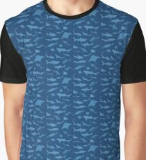 Sharks and Rays - Blue version! Graphic T-Shirt