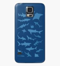 Sharks and Rays - Blue version! Case/Skin for Samsung Galaxy