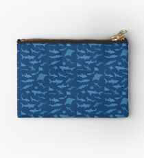 Sharks and Rays - Blue version! Studio Pouch