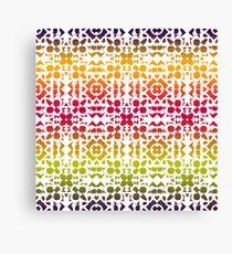 Batik Rainbow 200 - White Canvas Print