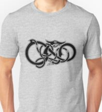 Viking Dragon in black T-Shirt