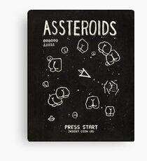 Assteroids - Retro Gaming Parody Canvas Print