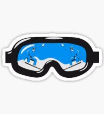 Winter Urlaub snowboard brille  Sticker