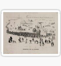 0178 ballooning Prodige de la chimie Maurisset del et sculp 1839 Sticker