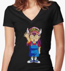 dr slump arale Women's Fitted V-Neck T-Shirt