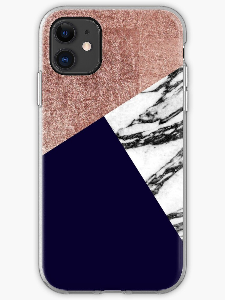 Soft silver/blue/navy/gold iPhone 11 case