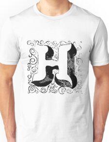 Block Alphabet Letter H Unisex T-Shirt