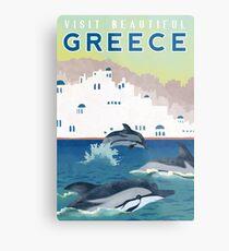 Greece Travel Poster Metal Print