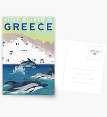 Greece Travel Poster Postcards