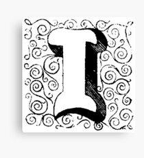 Block Alphabet Letter I Canvas Print