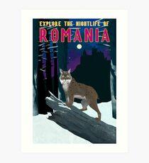 Romania Travel Poster Art Print