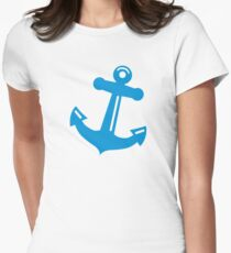 Blue anchor Womens Fitted T-Shirt