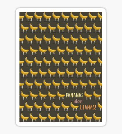 Bananas About Llamas Pattern Sticker