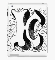 Block Alphabet Letter K iPad Case/Skin