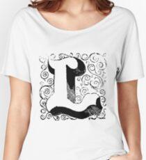 Block Alphabet Letter L Women's Relaxed Fit T-Shirt