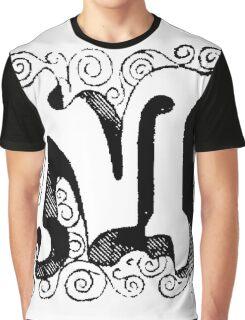 Block Alphabet Letter M Graphic T-Shirt