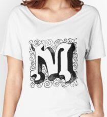Block Alphabet Letter M Women's Relaxed Fit T-Shirt