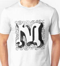 Block Alphabet Letter M Unisex T-Shirt