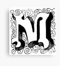 Block Alphabet Letter M Canvas Print