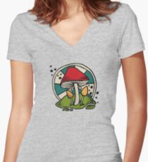 Mushroom Women's Fitted V-Neck T-Shirt