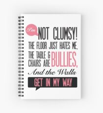 Clumsy office humour Print Spiral Notebook
