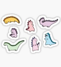 Cute Dino Explosion Sticker