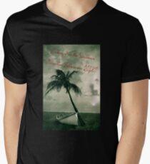 Kicking it in the Caribbean! Men's V-Neck T-Shirt