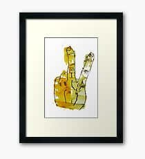 Two Fingers Print Framed Print