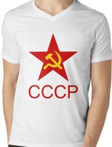 Soviet Red Star, T-Shirt Design Mens V-Neck T-Shirt
